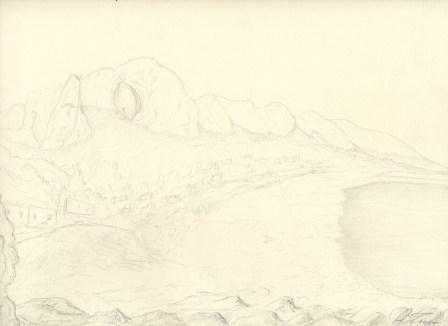 GROTTE ADDAURA PALERMO 2-4 matita su carta 24 X 30 di TROIA ALESSANDRO Copyrigth – © RIPRODUZIONE VIETATA