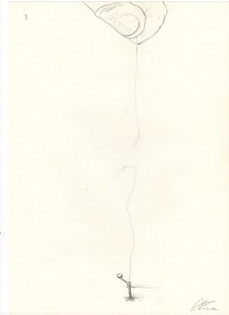IL FILO matita su carta 21 X 29,5 di TROIA ALESSANDRO Copyrigth – © RIPRODUZIONE VIETATA