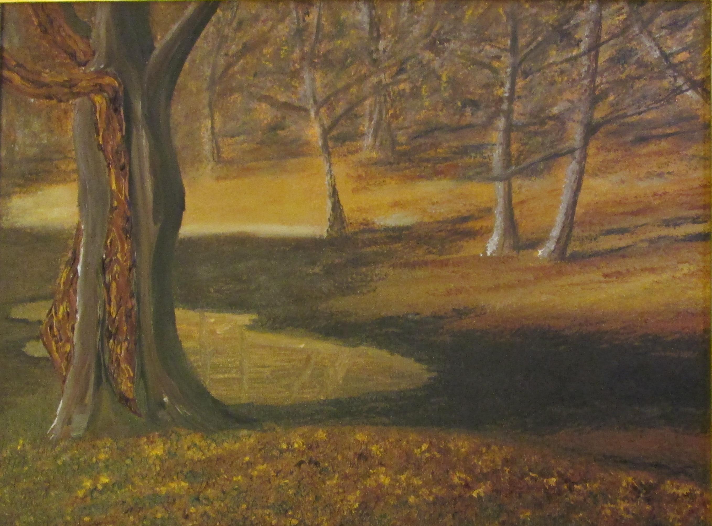 LA POZZA D'ACQUA Olio su tela 30 x 40 di TROIA ALESSANDRO