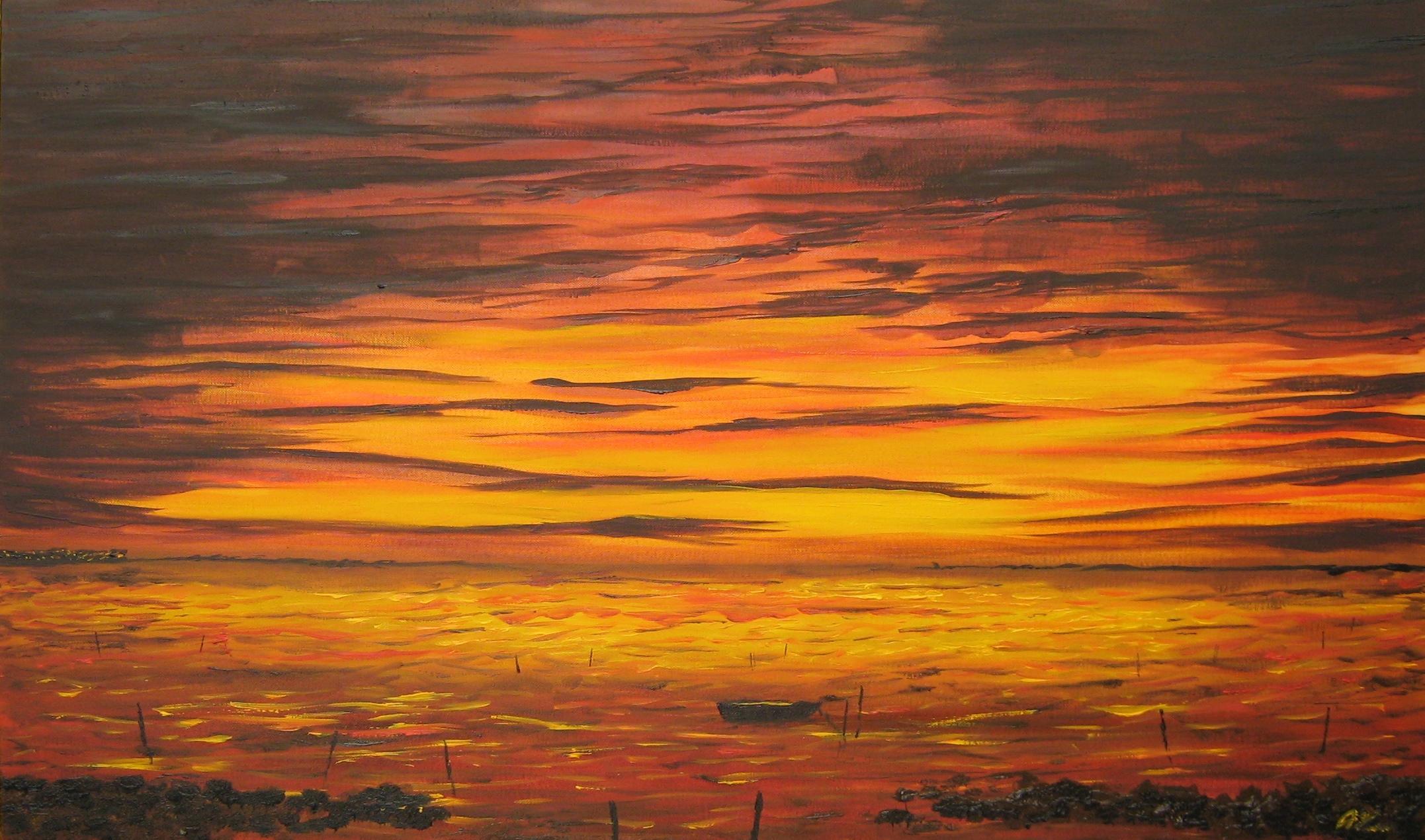 MARSALA - TRAPANI Olio su tela 100 x 60 di TROIA ALESSANDRO