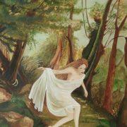 Pina Soloperto, LA NINFA DEI BOSCHI; 2010; olio su tela; cm.70x50