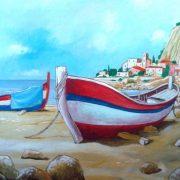 """Nuccio Garilli, """"Paesaggio Marino Siciliano"""" Olio su Tela cm 70 x 100 2011"""