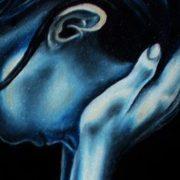 """Paola Comito, PARTICOLARE QUADRO """"Disperazione e abbandono"""" olio su tela, 2005"""