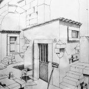 Giuseppe Pino Biondi Disegno preparatorio per un dipinto. Matita HB su carta cm. 50x70.
