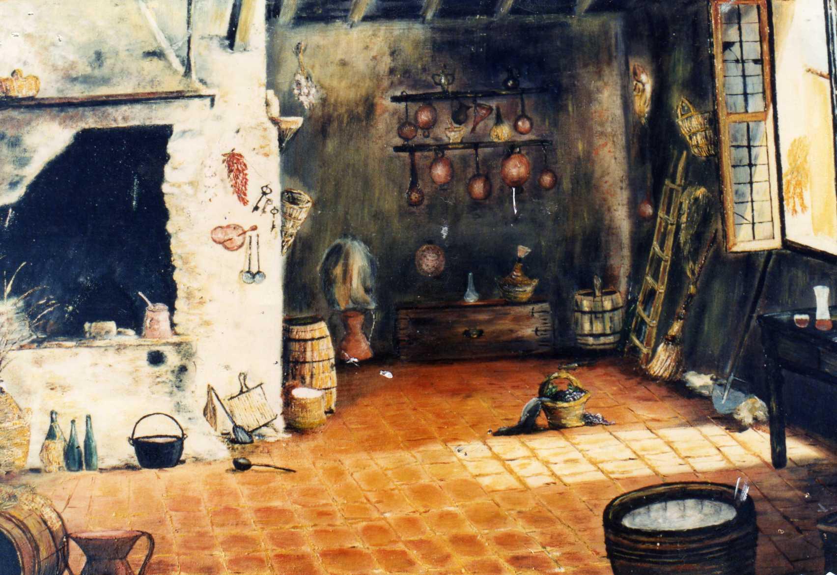 Interni Di Una Casa Di Campagna : Vera seri interno di una vecchia casa di campagna 1992 olio su