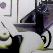 Giuseppina Irene Groccia GiGro Anima nuda - Olio su tela 100x50