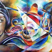 Daniela Panebianco Pittrice  Dualismo e dualità, olio su tela