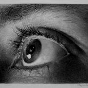 """Bruno Pagliarulo """"Guardare oltre...""""grafite e carboncino su carta 220grm"""