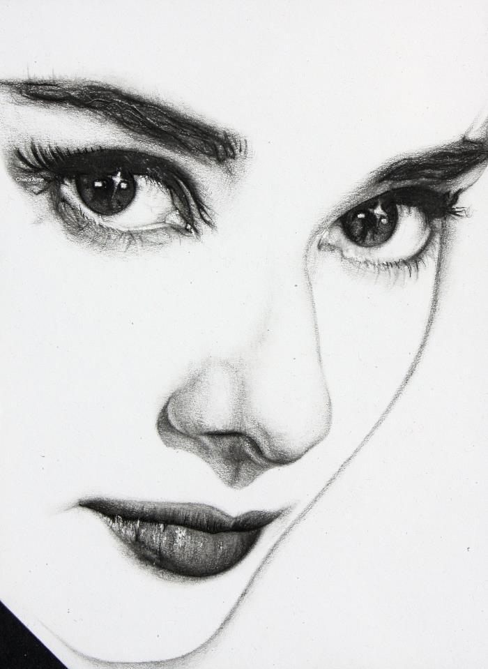 Chiara aime audrey hepburn minimal matita su foglio for Minimal art artisti