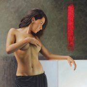 Omar Ortiz Anatomía de la luz Oleo sobre lino 140 x 180 cm
