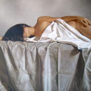 Omar Ortiz tela al desnudo oleo sobre tela 150 x 200 cm