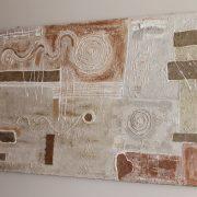 Milena Alberti astratto materico,corada e stucchi