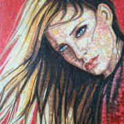 """Emilio Crotti """" Y O U """" cm.50x70 olio su tela"""